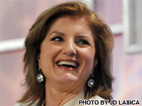 Arianna Huffington, former President of The Cambridge Union Society