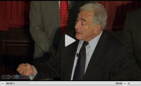 Dominique Strauss-Kahn at the Cambridge Union Society