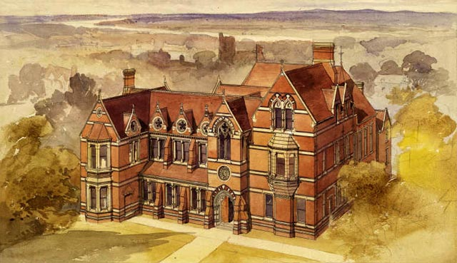 Alfred Waterhouse's watercolour of The Cambridge Union Society