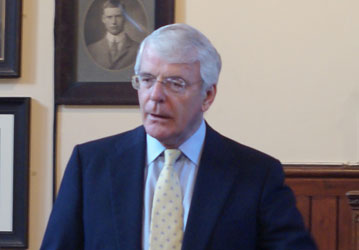 Sir John Major, Easter 2010